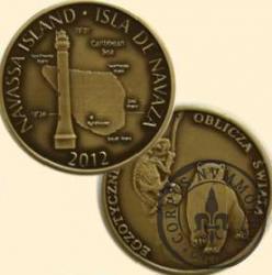 NAVASSA ISLAND (mosiądz patynowany)