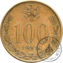 100 (bez nazwy) - Józef Piłsudski - mosiądz