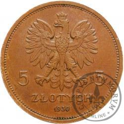 5 złotych - sztandar - brąz