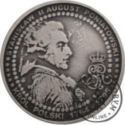 1 orichalcum / Mennica Warszawska 1766 - mosiądz (CuZn37) srebrzony oksydowany