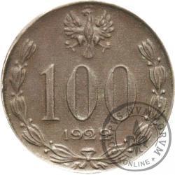 100 (bez nazwy) - Józef Piłsudski - cyna