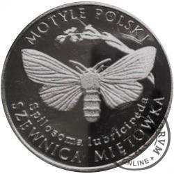 10 motylków / Szewnica miętówka (XII emisja - alpaka oksydowana)