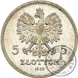 5 złotych - sztandar - Ag st. L płytki