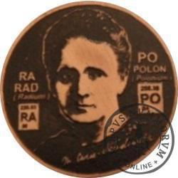 Maria Skłodowska-Curie / WZORZEC PRODUKCYJNY DLA MONETY (miedź patynowana)