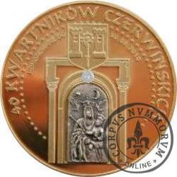 40 kwartników czerwińskich - 600 LECIE BITWY POD GRUNWALDEM (brąz z brylantem)