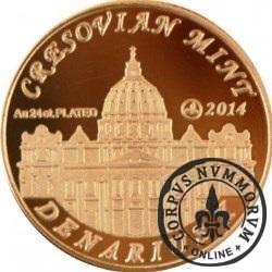 10 denarów - DENARIUS X (mosiądz platerowany złotem 24k - wersja eksportowa) / Jan Paweł II - KANONIZACJA