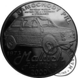 20 zmotoryzowanych / SAMOCHODY PRL - FIAT 126 p (mosiądz srebrzony oksydowany)
