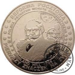 20 pocztowych - PIERWSZY ZNACZEK NA ŚWIECIE 1840 (aluminium)