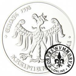 40 orłów - Grosz 1338 / Kazimierz Wielki (Ag)