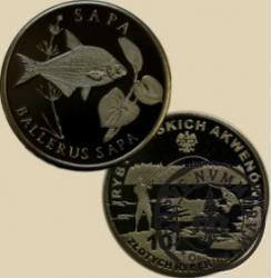 10 złotych rybek (alpaka oksydowana) - XLVIII emisja / SAPA
