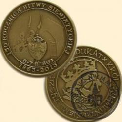 1 dukat - 150. Rocznica Bitwy Siemiatyckiej (mosiądz patynowany)