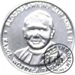 20 Diecezji - Błogosławiony Jan Paweł II - Karol Wojtyła 1920-2005 (żeton posrebrzany, stempel odwrócony)