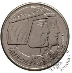 100 złotych - głowy: Mieszko i Dąbrówka - Aw: herby, Rw: orzeł, Ni