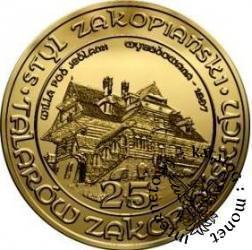 25 talarów zakopiańskich - Willa pod Jedlami (mosiądz)