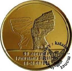 100 marek polskich - 90. ROCZNICA POWSTAŃ ŚLĄSKICH (golden nordic I)