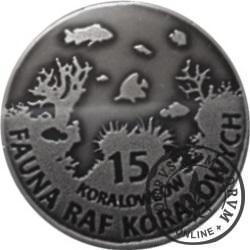 15 koralowców - ROGATNICA NIEBIESKA (XI emisja - alpaka oksydowana)