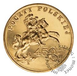 2 złote - 450 lat Poczty Polskiej