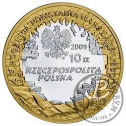 10 złotych - 65. rocznica Powstania Warszawskiego - K. K. Baczyński