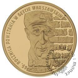 200 złotych - 65. rocznica powstania w getcie warszawskim