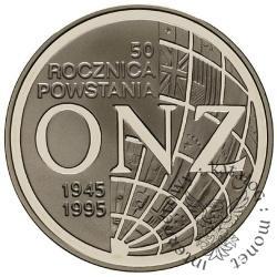 20 złotych - 50. rocznica powstania ONZ