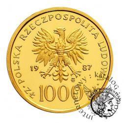 1000 złotych - Jan Paweł II - półpostać bokiem