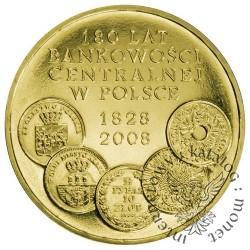 2 złote - 180 lat bankowości centralnej w Polsce