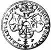 szóstak - duży herb Waga, IV ELEC, LP pod tarczami