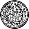 grosz (1/24 talara) - tarcza okrągła
