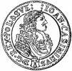 Tymf złotowy koronny (popiersie w wieńcu)