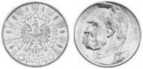5 Złotych (Józef Piłsudski)(1934) (bez napisu) PRÓBA