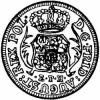 dwugrosz (1/12 talara) - EPH tarcza wygięta
