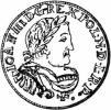 ort koronny - herb w tarczy, 1-8