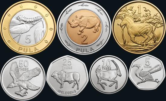 Botswana Nowy zestaw monet obiegowych - Newsy numizmatyczne